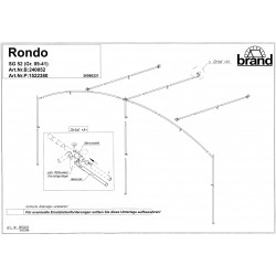 Frame 22mm staal Rondo